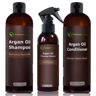 Premium Nature Argan Oil Hair Treatment Set