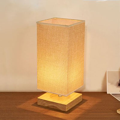 Surpars House Minimalist Solid Wood Table/Bedside Lamp