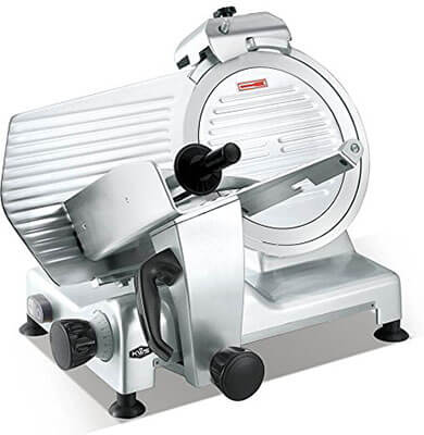 KitchenWare Station Deluxe Commercial 420w Electric Meat Slicer