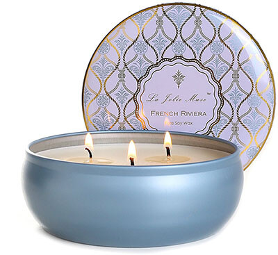 La Jolie Muse Scented Candles, 3 Wicks