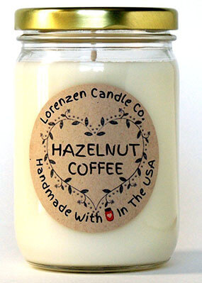 Lorenzen Candle Co Hazelnut Coffee Soy Candle