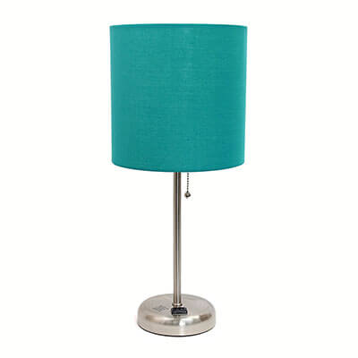 Limelights LT2024-TEL Brushed Steel Lamp