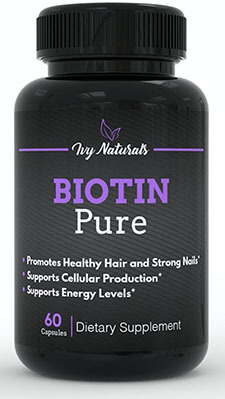 Ivy Naturals Pure Biotin, Strong Hair and Nails, Clear Skin