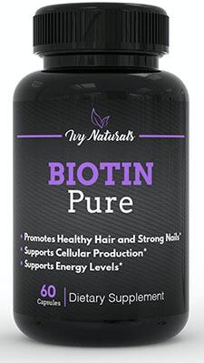 Ivy Naturals Pure Biotin, Strong Hair and Nails, Clear Skin