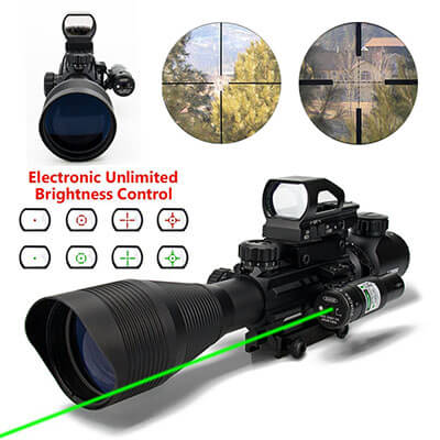 Aipa Dual Illuminated 4-12x50EG Tactical Combo Rifle Scope