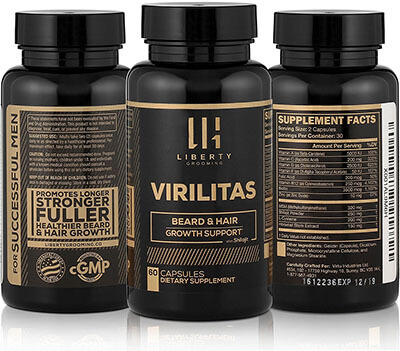 Liberty VIRILITAS | Beard & Hair Growth Vitamin, Biotin, Shilajit
