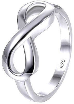 BoRuo 925 Sterling Silver, Tarnish Resistant Wedding Band Ring