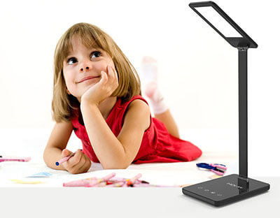 MulcolorLED Desk Lamp, Holan 8W Eye-Care Desk Light