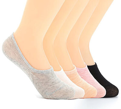 Ueither Women's Non Slip No Show Cotton Socks