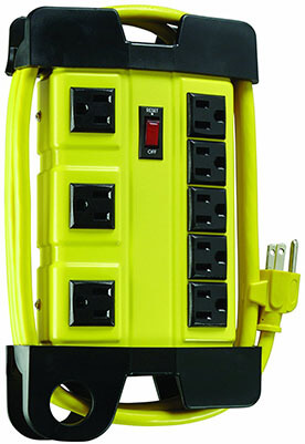 Coleman Cable 04655Heavy-Duty Power Strip, 8-Outlets