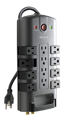 Belkin Power Strip Surge Protector, 12-Outlet Pivot-Plug, 4320 Joules
