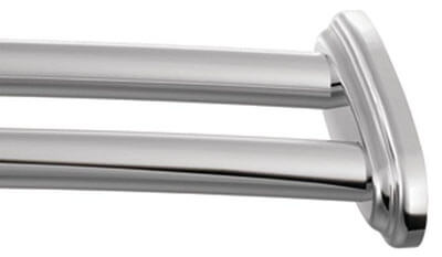 Moen DN2141CH Adjustable Chrome Shower Rod, Double Curved