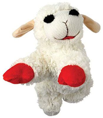 Multipet International Lambchop Plush Squeak Pet Toy