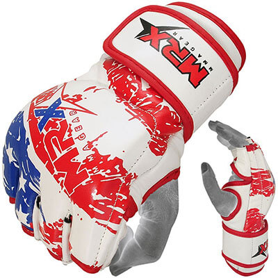 MRX MMA Grappling, Cage Fight Cowhide Leather MEN and WOMEN Gloves