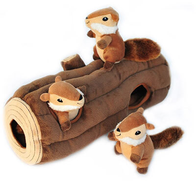 ZippyPaws X-Large Burrow Log and Chipmunks