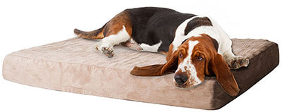 Petmaker Memory Foam Dog Bed, Removable Cover