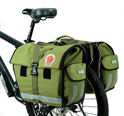 ArcEnCiel Water-Resistant Bicycle Rear Seat Double Pannier Bag