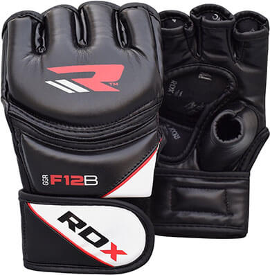 RDX Maya Hide Leather Grappling MMA, UFC Cage Fighting Sparring Gloves