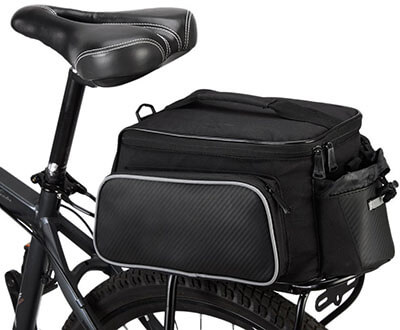 BlueTop Bicycle Back Seat Tote Bag Pannier