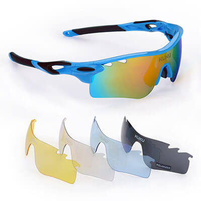 FiveBox Polarized Sports Glasses, U.V Protection, Unbreakable glass