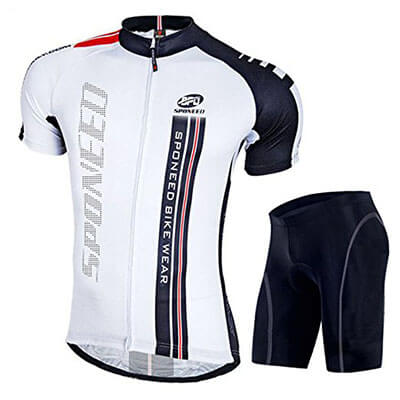 Sponeed Men's Bicycle Jersey and Shorts – Padded and Breathable