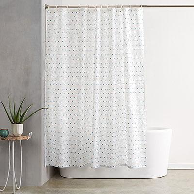 Amazon - basics shower curtains