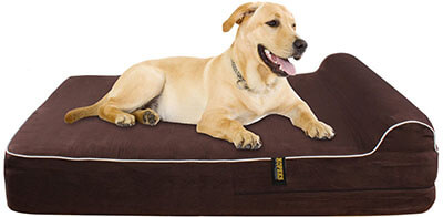 KOPEKS Orthopedic Memory Foam Dog Bed, 3-inch Pillow
