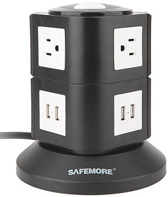 Safemore 4000W Smart Surge Protection Power Strip