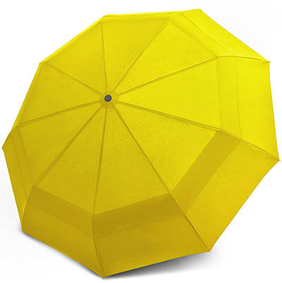 EEZ-Y Compact Travel Umbrella, Double Canopy Construction