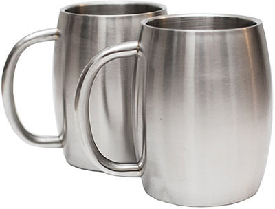 Avito Set of 2, Stainless -steel cups.