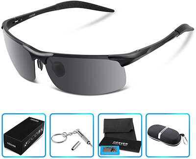COSVER Style Polarized Sports Sunglasses for Men