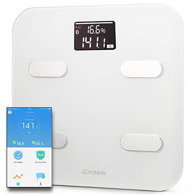 Yunmai Color Smart Bathroom Scale, Fitness App, Large Display
