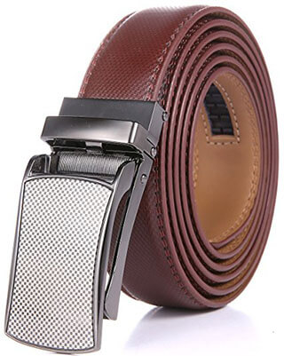 Marino Avenue Men's Genuine Leather Ratchet Dress Belt, Linxx Buckle