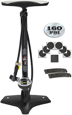 Kolo Sports Bike Floor Pump with Tire Repair Kit