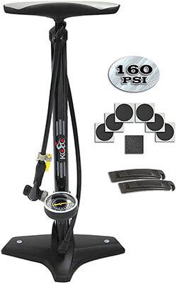 Kolo Sports Bike Floor Pump with Tire Repair Kit