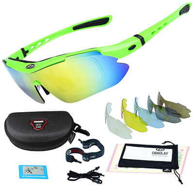 OBAOLAY Polarized Cycling Sports Glasses