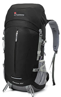 Mountaintop Hiking Backpack Backpacking Trekking Bag, 50L