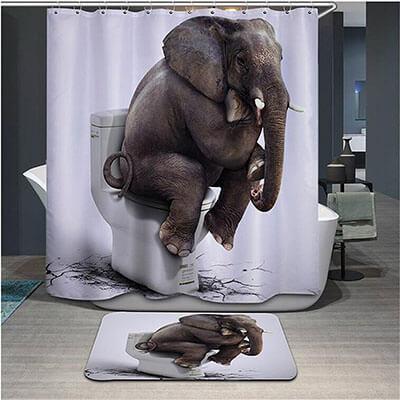 Dodou-Elephant shower curtains.