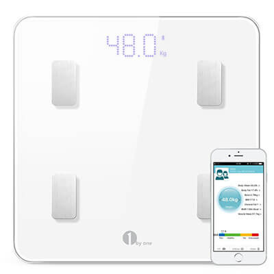 1byone Digital Wireless Body Fat Scale, iOS and Android Apps