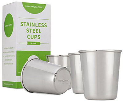 Human-centric- Stainless Steel Cups, for Kids and Toddlers