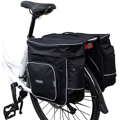 COTEetCI Bicycle Rear Seat Carrier Pannier Bags