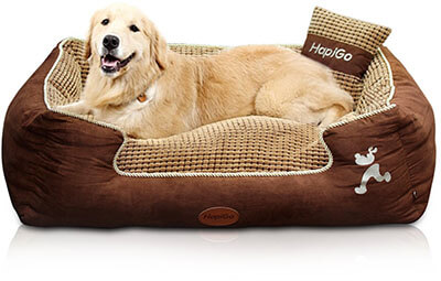 HappierGo Waterproof Pet/Dog Bed, Durable Bottom