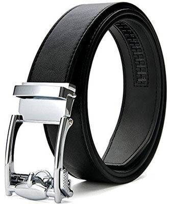 XIANGUO Men's Genuine Leather Belts, with Automatic Buckle for Man