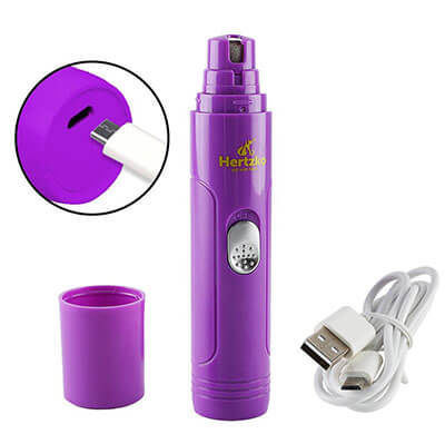 Hertzko Electric Pet Nail Grinder, USB Rechargeable