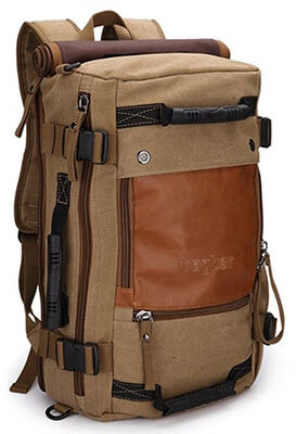 ibagbar Canvas Backpack Travel, Hiking and Camping Bag