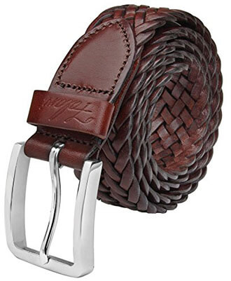 Falari men's braided leather belt