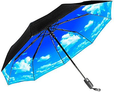 Repel Easy Touch Umbrella Windproof Travel Umbrella, Teflon Coating