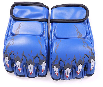 Soled Half Finger Boxing Sanda Fighting Sandbag Gloves MMA UFC