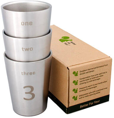 Better for Your - Stainless Steel Cups