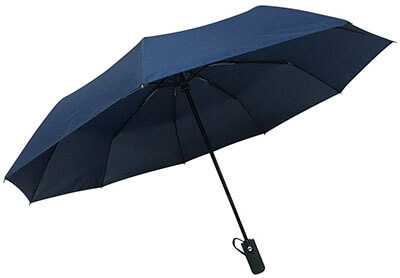 Rain-Mate Compact Travel Umbrella, Ergonomic Handle, Windproof